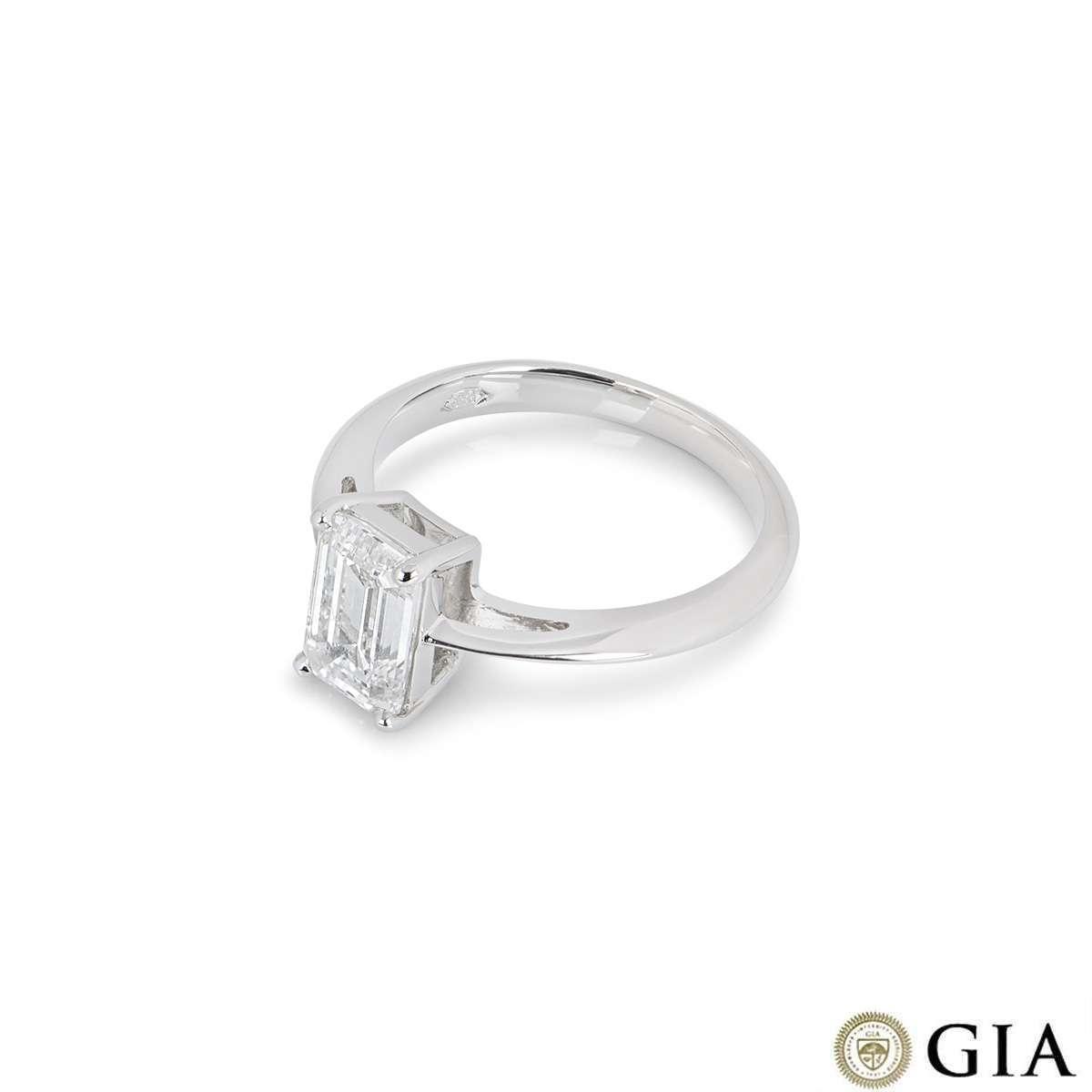 Platinum Emerald Cut Diamond Ring 2.00ct G/VS2